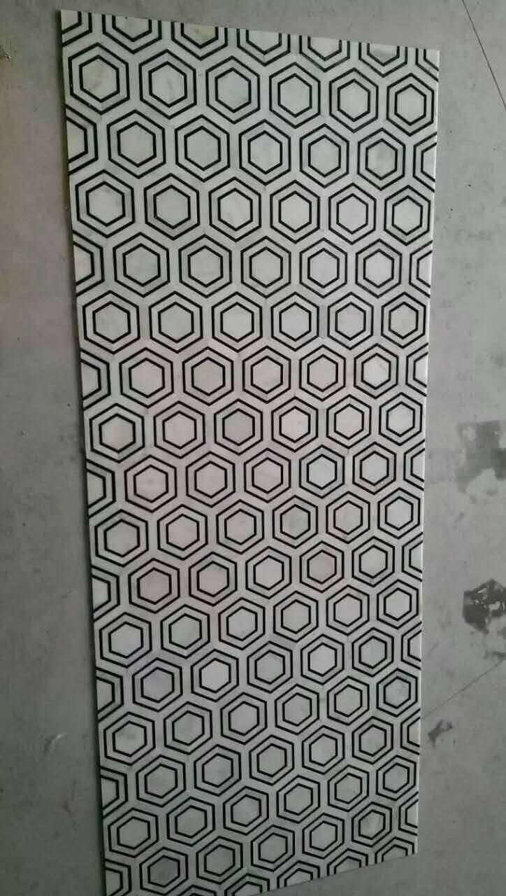 marble mosaic floor mosaic tile polished finish white black marble