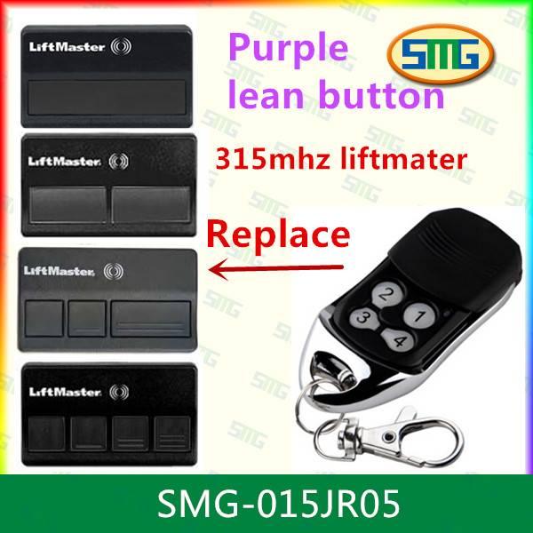 SMG-015JRA05 373LM Liftmaster Chamberlain Sears Craftsman 3 Button Remote 315m purple