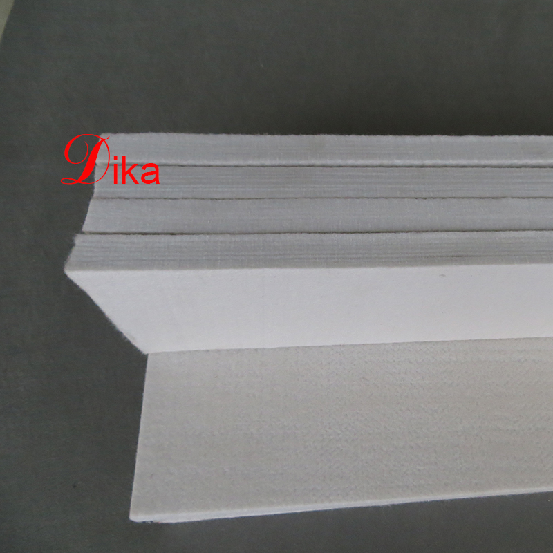 12mm thickness 100% needle punched industry polyester felt filter strip for steel factory