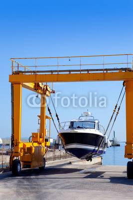 New design mobile tyre type boat crane
