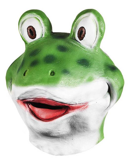 Youtumall Lovely Comic Latex Frog Full Head Mask