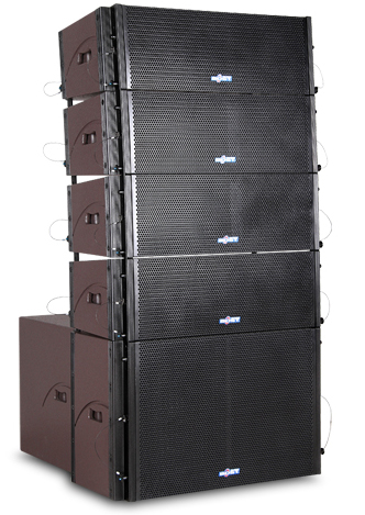 "double 8"" two way passive line array speaker system LA208"