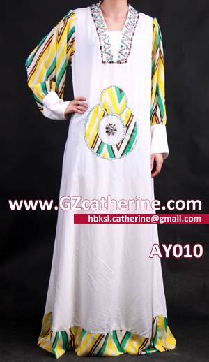 Long Sleeves Floor Length Beautiful Islam Caftan