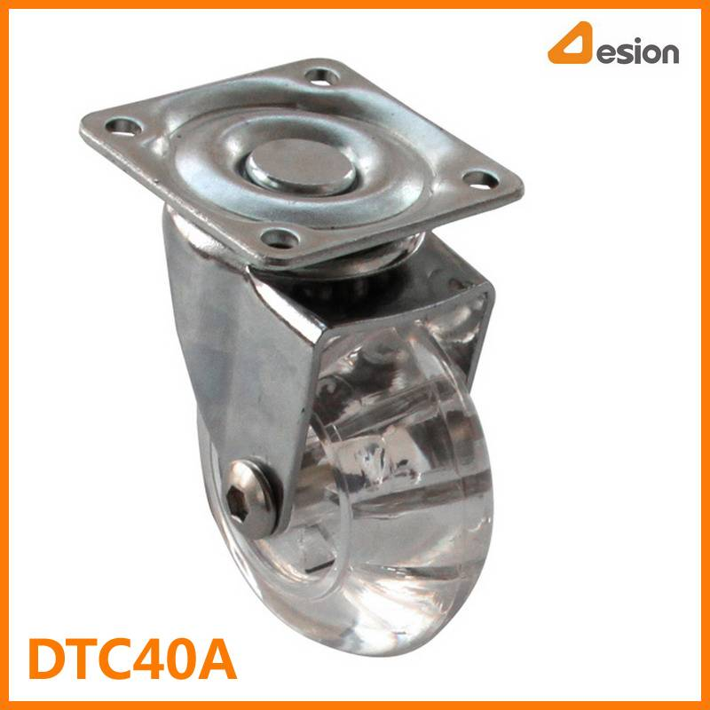 Transparent T Plate Wheel Caster Without Brake