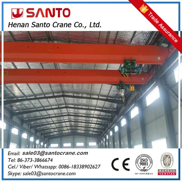 1 year warrenty for lda model light duty hoist travelling single beam girder bridge overhead crane a
