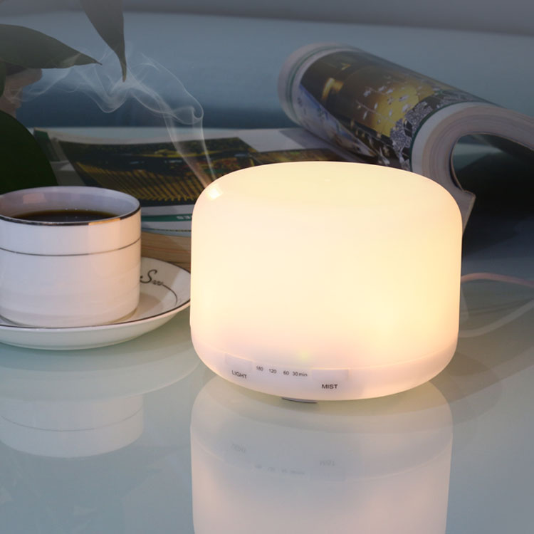 Aromatherapy Pendant Diffuser 160ml Round Plastic White Eco Ultrasonic USB LED for Office