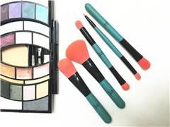 Portable 5pcs brushes makeup accessory travel kit