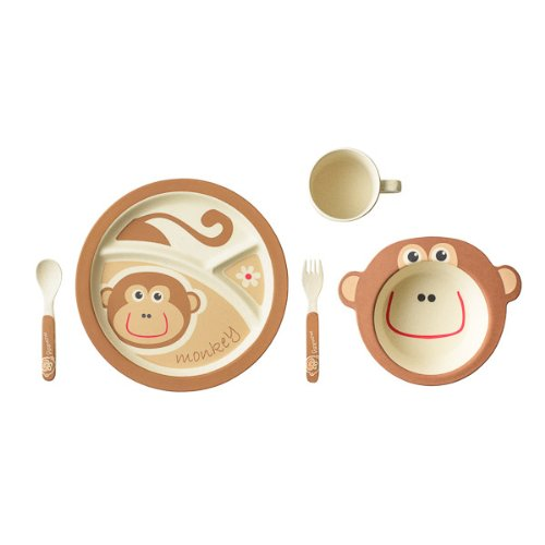 Biodegradable Reusable Eco Bamboo Kids Dinnerware Sets