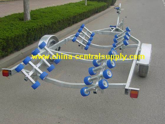 6.3m boat trailer with roller system