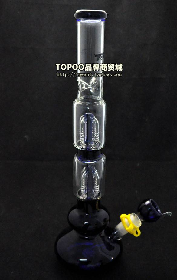 Bong 44CM Height Two Layer Filter Glass Pipe Glass Water Pipes Smoking Pipes Hookah&Shisha Smoking S