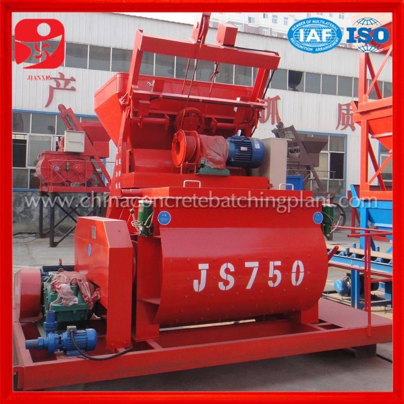 Zhengzhou Jianxin brand best selling JS750 concrete mixer