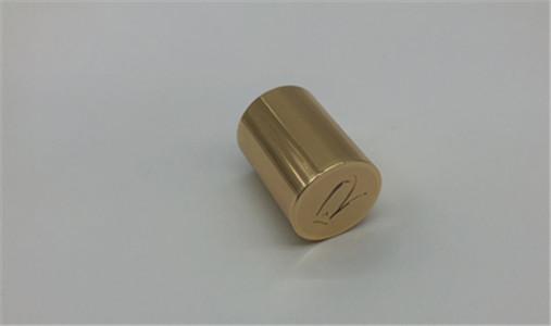 Shiny Gold Cylinder Perfume Cap