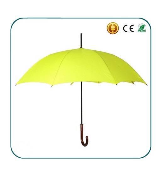 2016 new design  windproof fiberglass frame straight umbrella