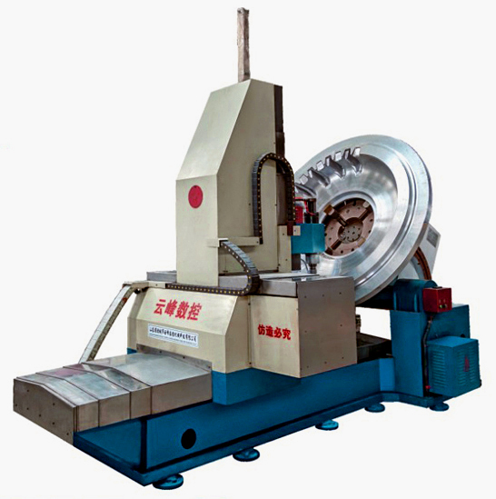 FIVE-AXIS CNC PATTERN MILLING MACHINE FOR TYRE MOULD