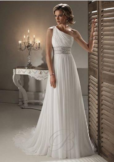 2012 strapless elegant  beading floor-length chiffon  one shoulder bride wedding dress