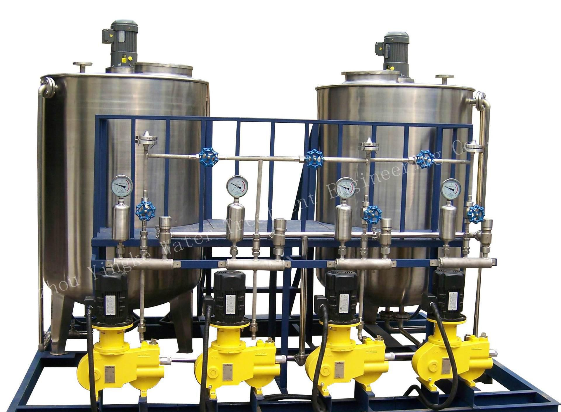 Fully automatic chemical dosing system for flocculation