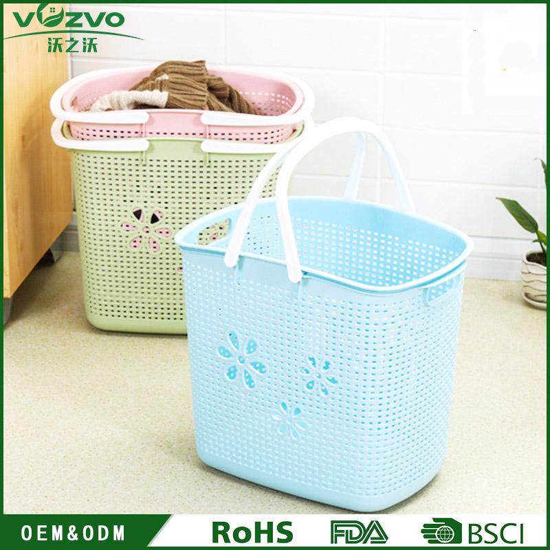 plastic laundry basket clothes washing hamper