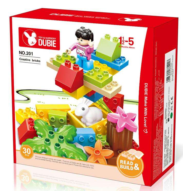 Creative brick toy educational preschool children DIY material
