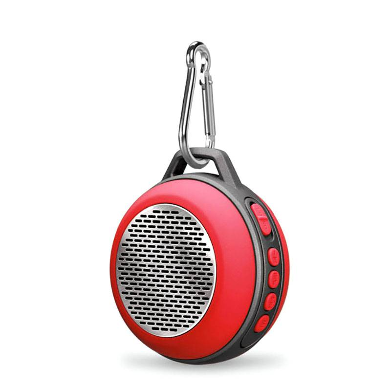 Fashion Design Outdoor Round Shape Portable Bluetooth Speaker with Climbing Buckle