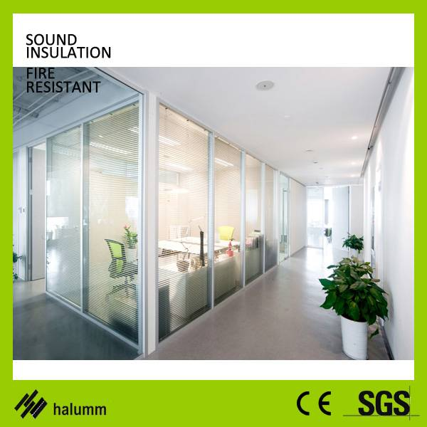 Hot new products for 2016 office partition glass wall made in china single glass double glass partit