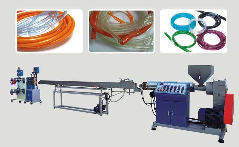 High efficiency flexible soft tube pvc pipe extrusion making machine