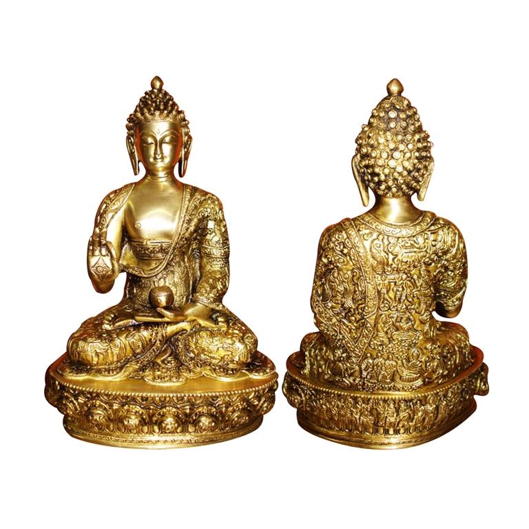 Handmade Brass Lord Buddha Designer Statue By Aakrati