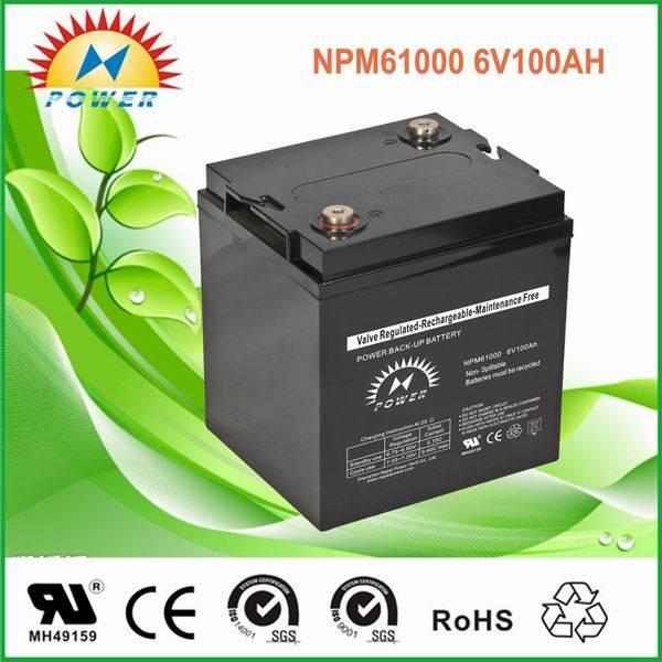 lead acid /sealed /ups/solar/ battery6V100Ah