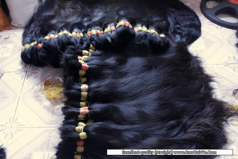 Raw Unprocessed Virgin Vietnamese Temple Human Hair