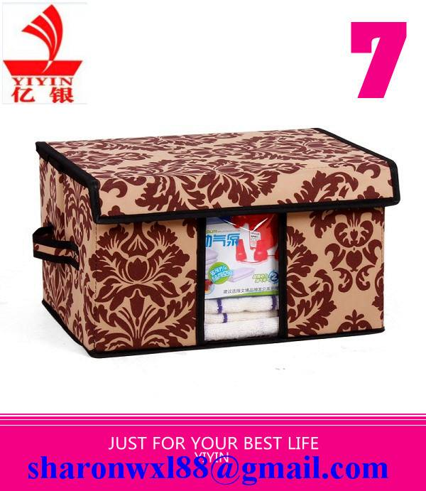 Multifunction colorful foldable storage box cloth organizer