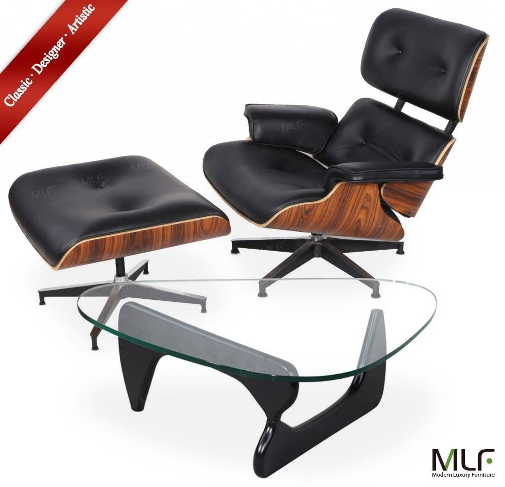 MLF® Eames Lounge Chair & Ottoman and Isamu Noguchi Table