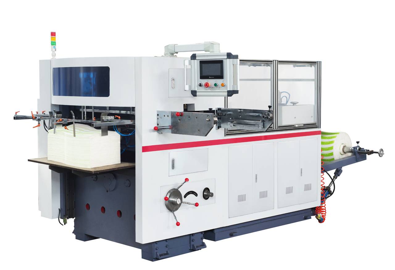 Good price paper roll automatic creasing and die cutting machine