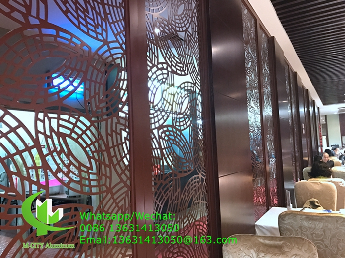 aluminum decorative panels for screen hotel