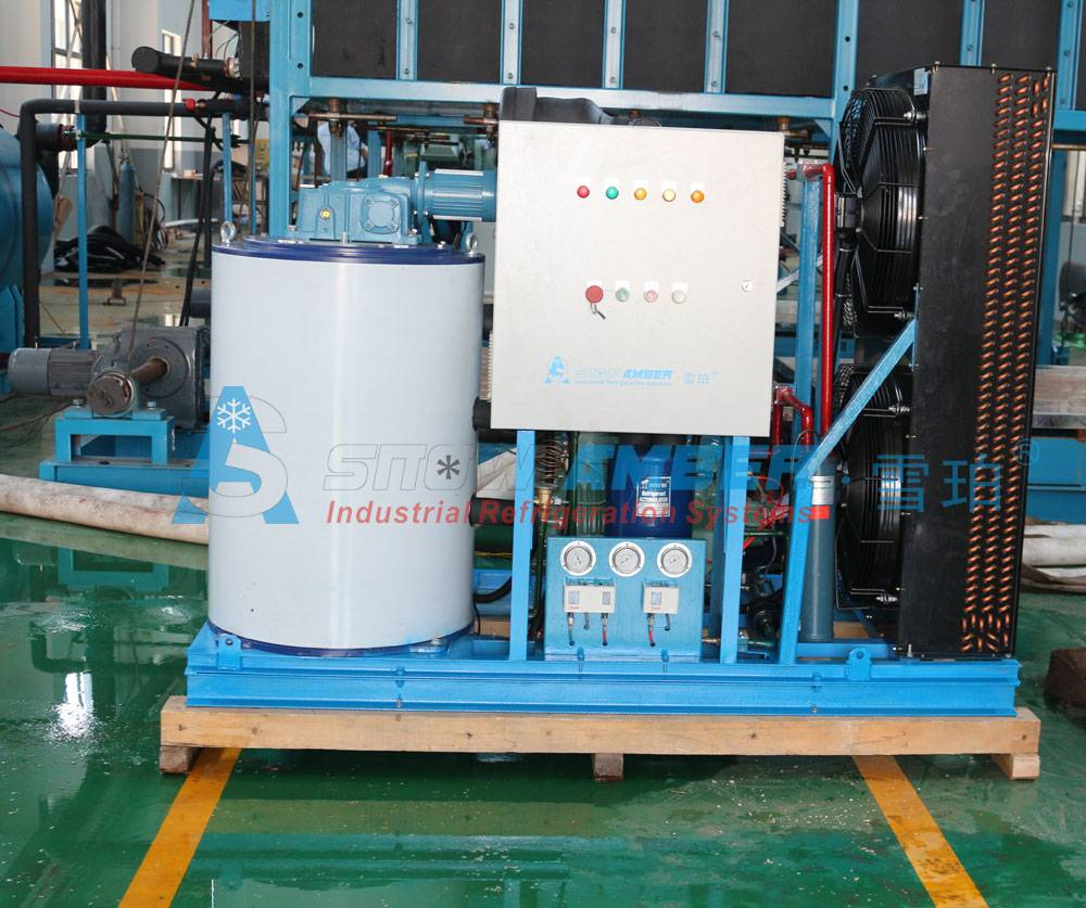 Commercial 3tons Air cooled Flake Ice Machine for Seafood/Fruits cooling in Markets/Boats
