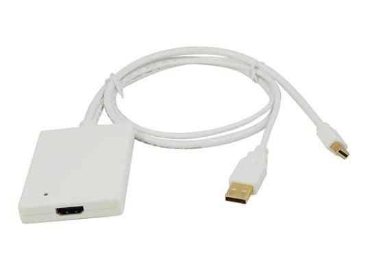 Mini DisplayPort + USB Audio to HDMI Adapter