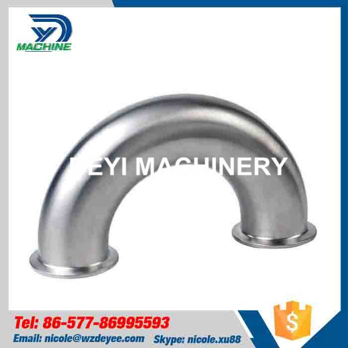 Stainless Steel 180 Degree Bend Elbow Clamped