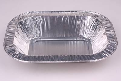Rolled Edge Oblong Disposable Aluminum Foil Food Container BBQ Grill Tray Party Pan Instant