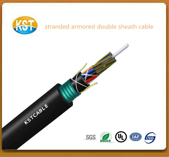 Stranded Armored Double Sheath Cable corrugated tape layer soft optical cable