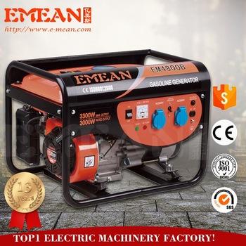 2.5 -8.75KVA big power Hot Sale best quality open type gasoline generator