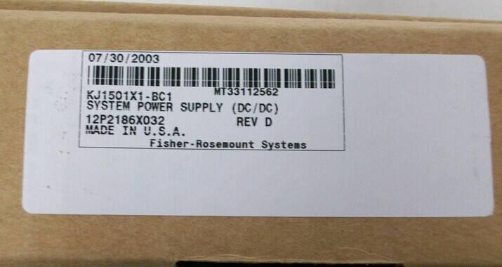 DeltaV KJ1501X1-BC1 System Power Supply
