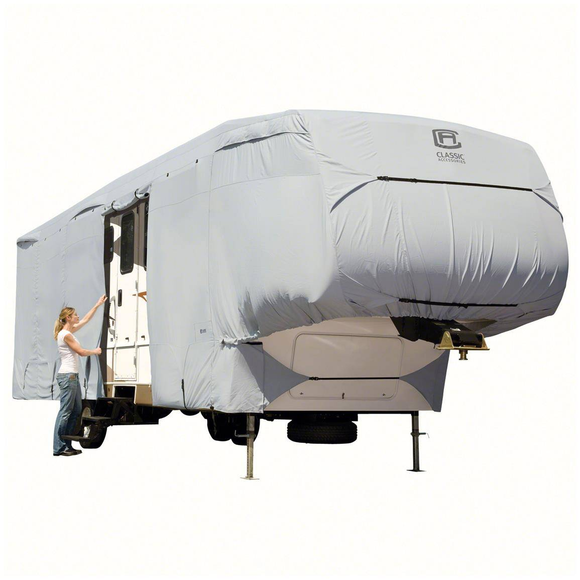 5th Wheel RV Cover non woven cover caravan cover All Weather Protection Caravan Cover