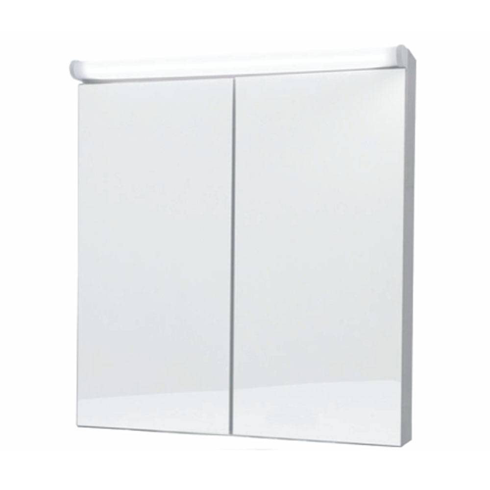 Naval double-door mirror cabinet with LED light