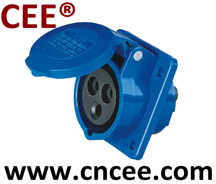 CEE® Industrial Socket Panel Mounted Socket Sloping