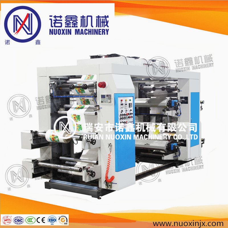 Hot sale 6 color plastic bag flexographic printing machinery