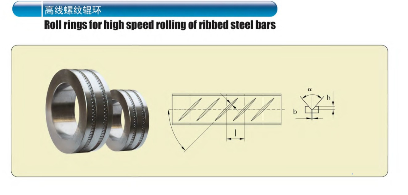 Roll Rings for high speed rolling of ribbed steel bars
