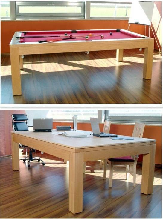 solid wood pool table with dining top