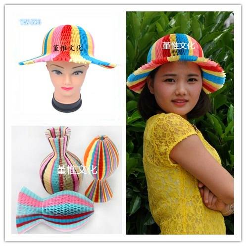 Colorful Paper Party Hat for Women and Children Fun Hat for Chistmas and Birthday Party Multi-Color