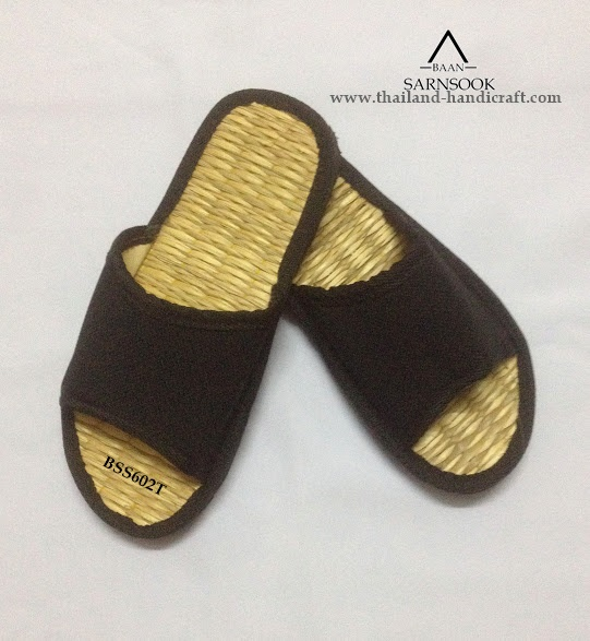 straw mat spa slippers with Papyrus from Thailand