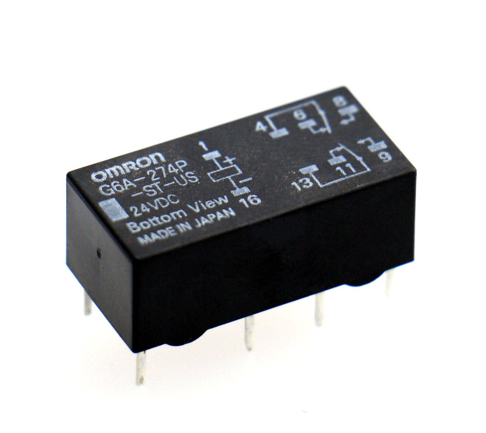 OMRON G6A-274P-ST-US 24VDC 0.5A/125VAC Low Signal Relay
