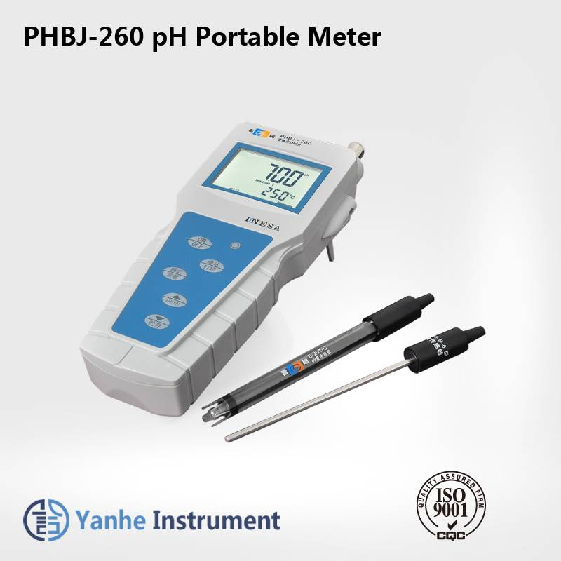 PHBJ-260 Portable digital pH Meter pH /mV(ORP)/Temp ph meter