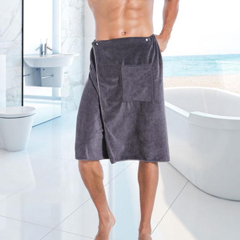 Fashion Man Wearable Magic Mircofiber BF Bath Towel With Pocket Beach Towel